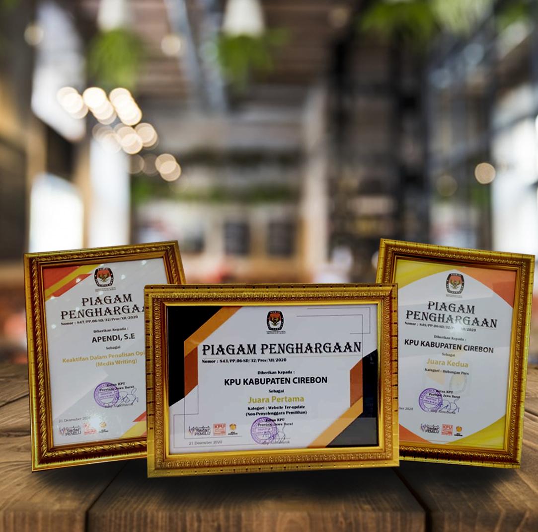 Piagam Penghargaan dari KPU Provinsi Jawa Barat
